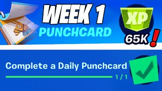 Complete a Daily Punchcard, Quests From Penny - 65,000 XP (Fortnite Season 8 Weekly Punchcard 1)