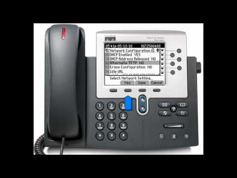 Changing the TFTP on your Cisco 7940 and 7960 phone