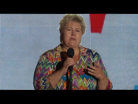 ERNA SOLBERG PRIME MINISTER OF NORWAY at the Global Citizen Festival 2015
