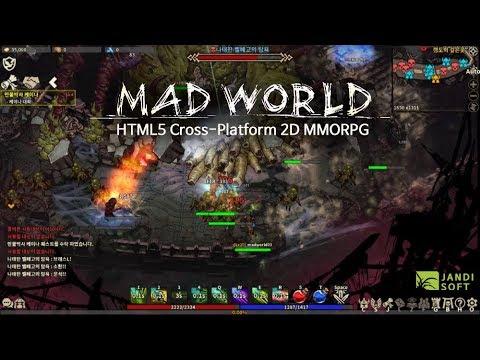 Mad World – New gameplay video for HTML5 cross-platform MMORPG | MMO