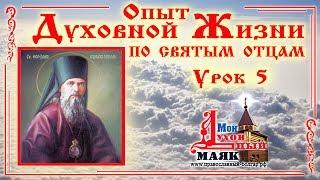 Духовная жизнь по св. Феофану Затворнику. Урок 5.