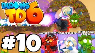 New Tower 'DRUID' MAX TIER 5 ALL FORMS! - Bloons Tower Defense 6 Part 10 (BTD 6 IOS/Android)