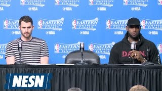 LeBron James, Kevin Love Full Game 1 Postgame Press Conference