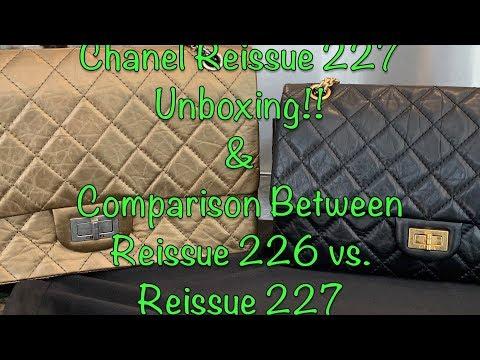 e4440d11d514f8 Chanel Reissue 227 Unboxing & Comparison with Reissue ...