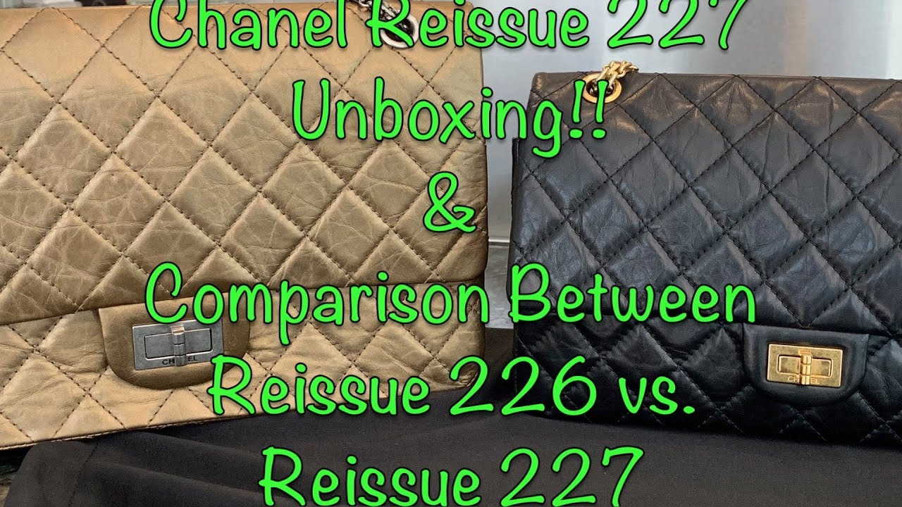 fc18fb921eec Chanel Reissue 227 Unboxing & Comparison with Reissue 226! - YouTube