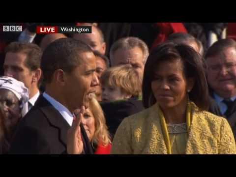 Barack Obama Oath of Office / Sworn In - President Obama: The Inauguration - BBC News
