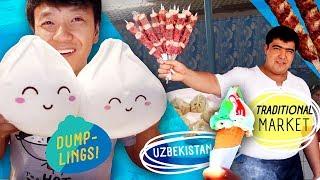 Uzbekistan TRADITIONAL MARKET & Dumpling Plushie