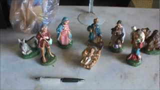 Vintage Christmas Nativity Scene