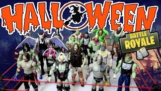 WWE HALLOWEEN BATTLE ROYAL - WWE Action Figure Fun