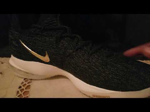 e9f18c2107a Nike LeBron 15 low Metallic black gold Review - YouTube