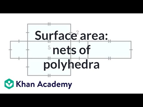 Finding surface area: nets of polyhedra   Perimeter, area, and volume   Geometry   Khan Academy