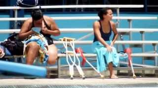 Amputee Woman Swimming Barquisimeto 04-30-2.013 Tomorrow