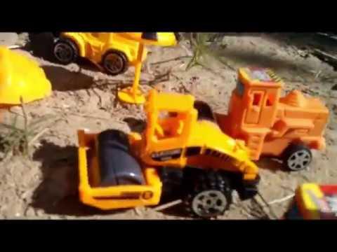 Construction Toys Making Road | Truck , Roller , Dump Truck , Excavator , Crane Full Set For Kids