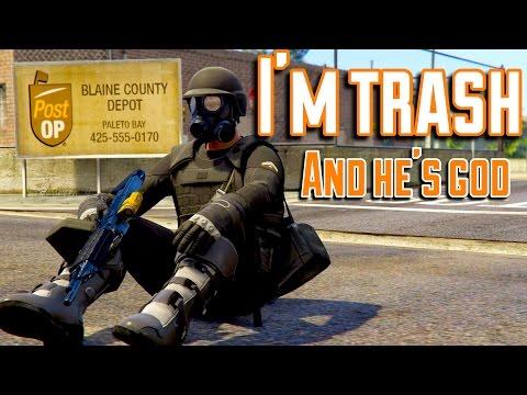 I'm Trash Because I Hide   Random 1v1 Troll   GTA 5 Online Gameplay PS4