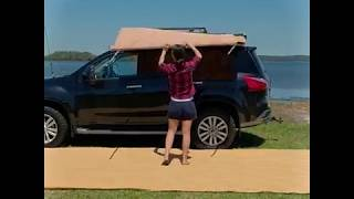 1 person, under 1 minute – look how easy it is to set up an Adventure Kings Awning