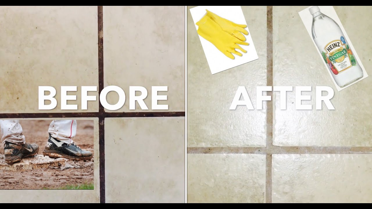 how to clean grout no chemicals using vinegar
