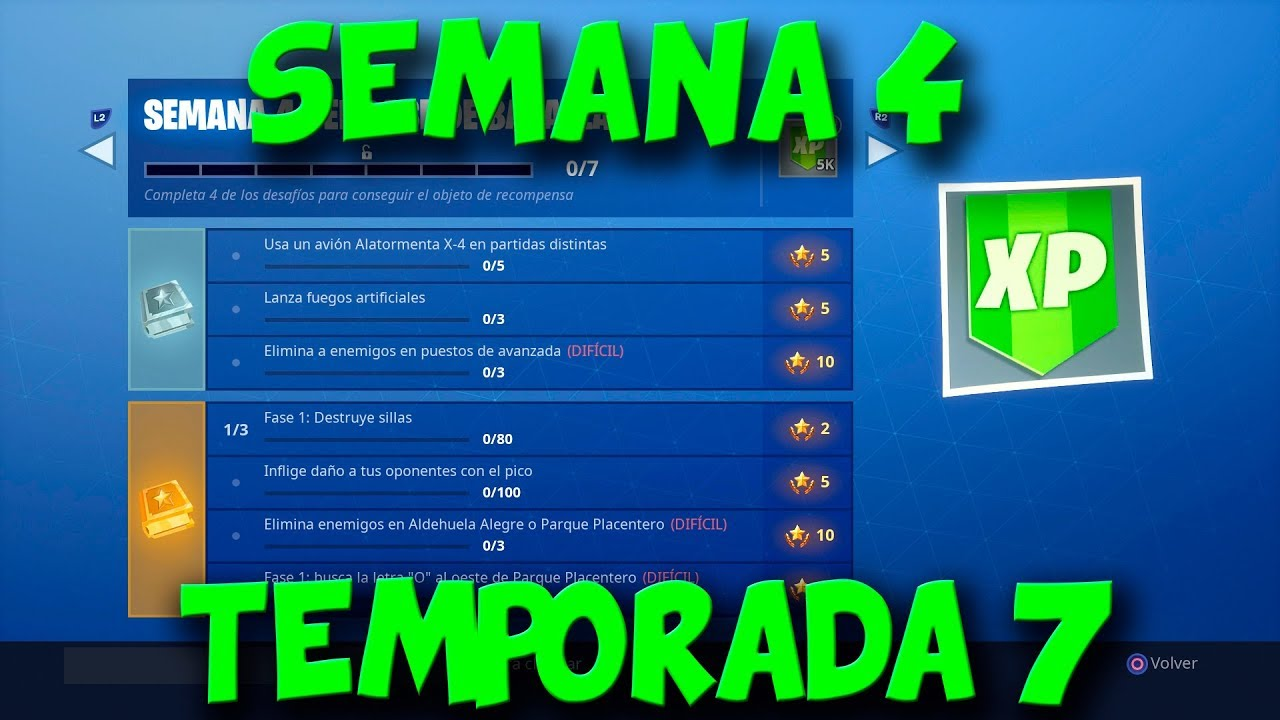 4 26 Mb Todos Los Desafios Semana 4 Temporada 7 Fortnite Battle