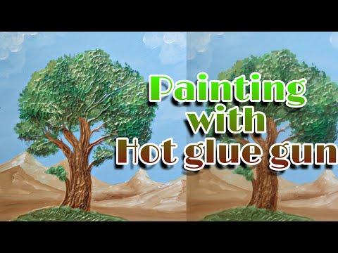 Painting with hot glue gun | glue gun ideas | glue gun Painting