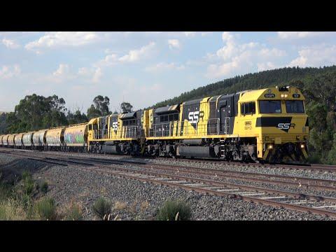 4K Awesome Locomotive Lash Ups! Brilliant Sound! - SSR Grain Trains Australia