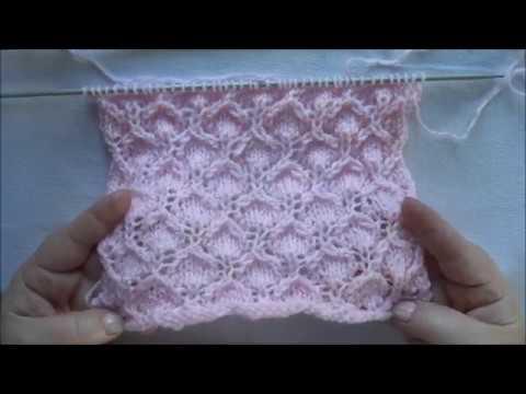 tuto le point de bougie au tricot en pas à pas facile