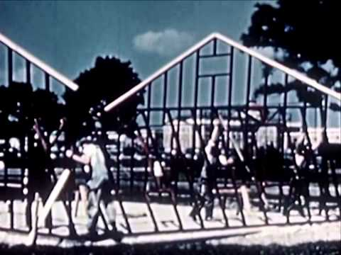 A Report To Home Builders - 1945 Steel Frame House Archival Footage - WDTVLIVE42