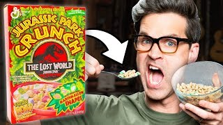 Discontinued Jurassic Crunch Cereal Taste Test