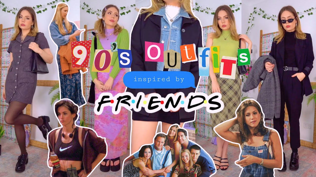 90's outfits inspired by FRIENDS! (there's 37 looks lol)