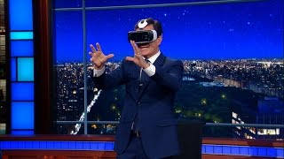 Stephen Tries Out CNN's Virtual Reality Debate