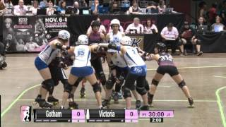 2015 WFTDA Champs - D1 Game 10:  Gotham Girls Roller Derby v Victorian Roller Derby League