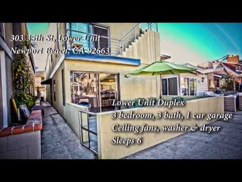 303 35th Street Lower Unit Newport Beach, CA 92663