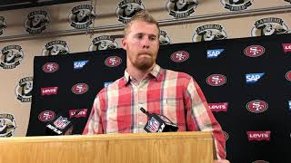 "San Francisco 49ers Quarterback C.J. Beathard on 33-30 loss to Green Bay: ""This one hurts the most."""