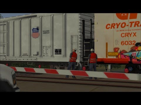 Union Pacific freight train comes apart - TS2019