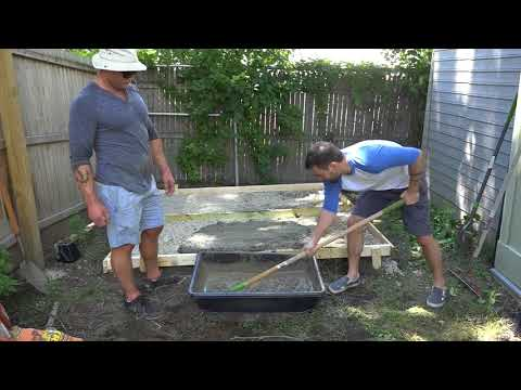 DIY Concrete Slab Foundation for a Tool Shed