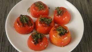 garlic grilled tomatoes sanjeev kapoor khazana