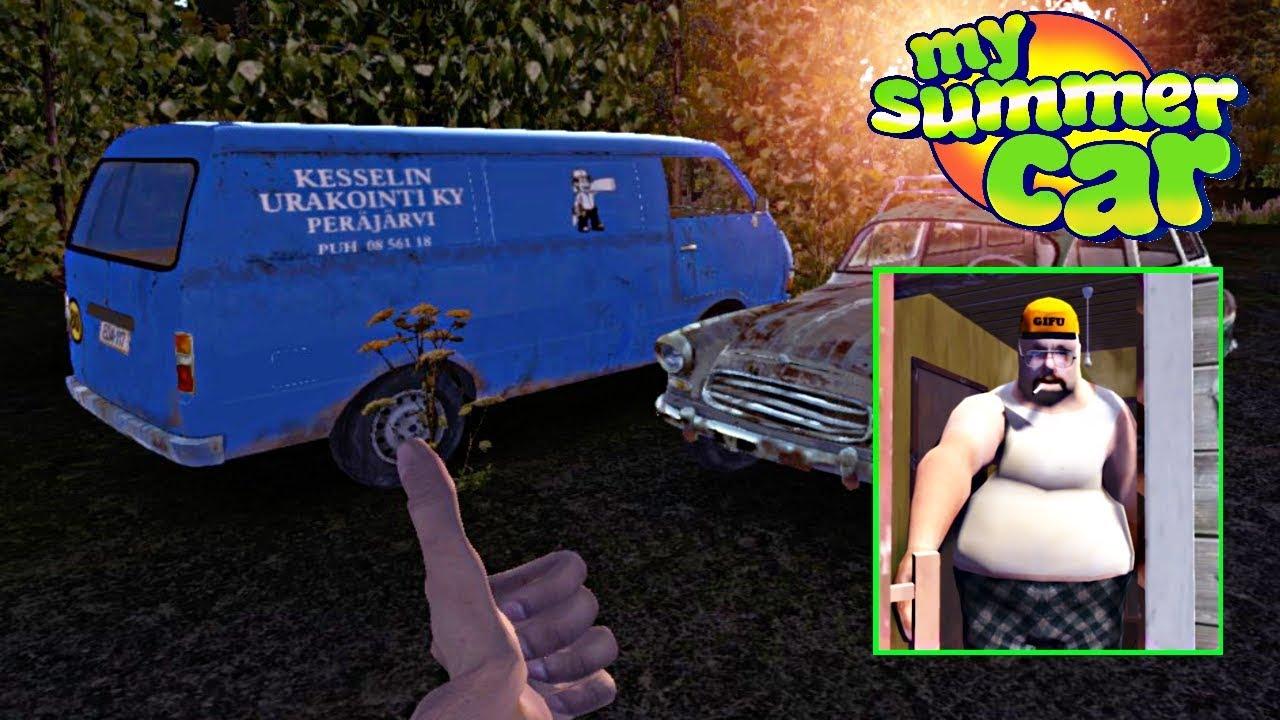 Pegando A Chave Da Van Com O Nosso Tio My Summer Car Youtube