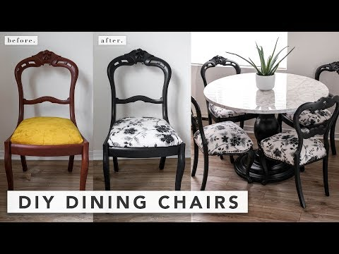 Antique Chair Makeover DIY: How to Reupholster Dining Chairs | by Erin Elizabeth