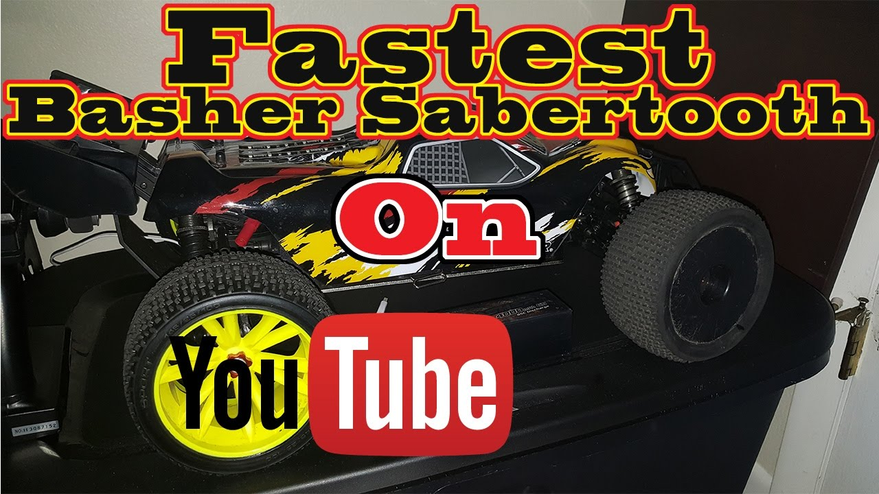 RC Speed Run | 6s Hobbyking Basher Sabertooth 1/8 Scale Truggy