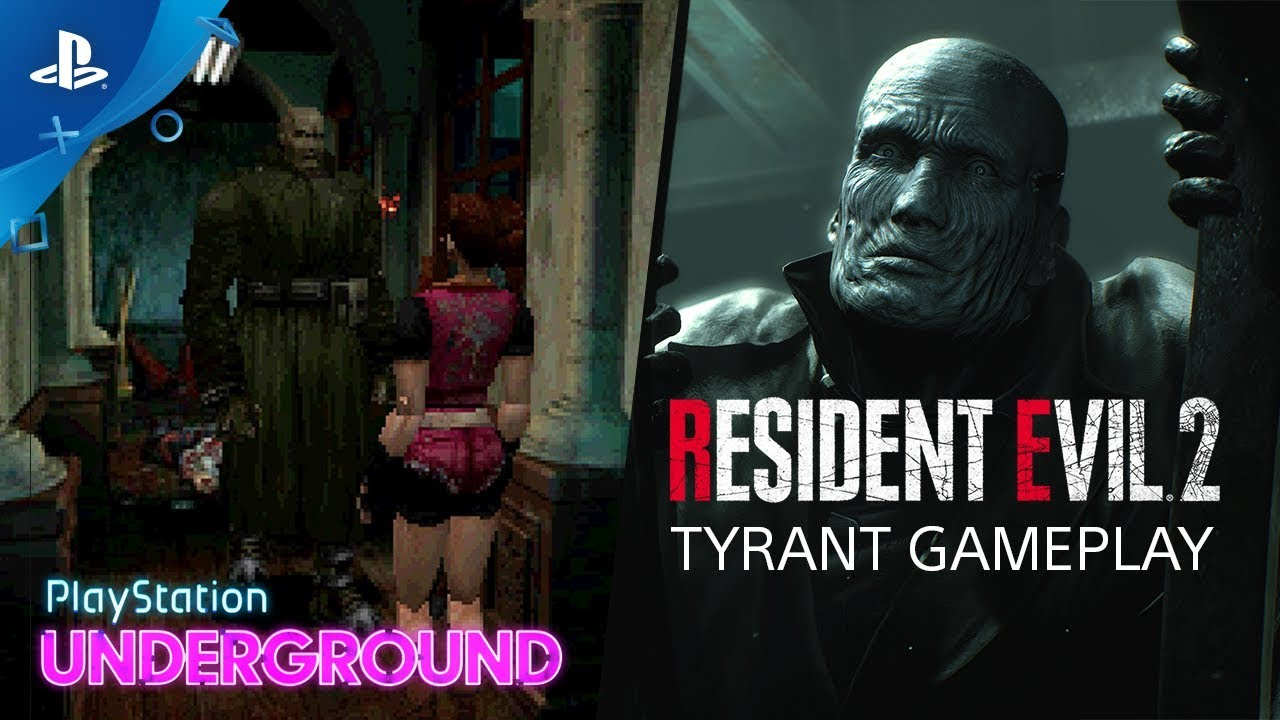 Resident Evil 2 The Tyrant 1998 Vs 2019 Playstation