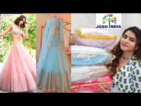 Josh India Designer Lehengas Haul   Latest Designer Lehengas   Lehengas Online   Lehenga Review  