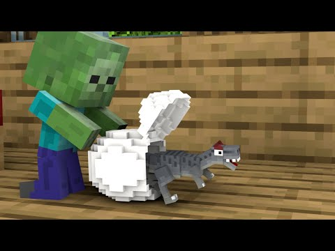 Monster School : Baby Zombie and Giant Pet - Minecraft Animation