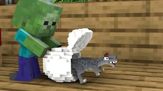 Monster School : Baby Zombie and Baby Dinosaurs - Minecraft Animation