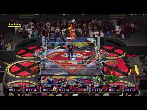 Wwe.   8 man ladder captain American championship belt match