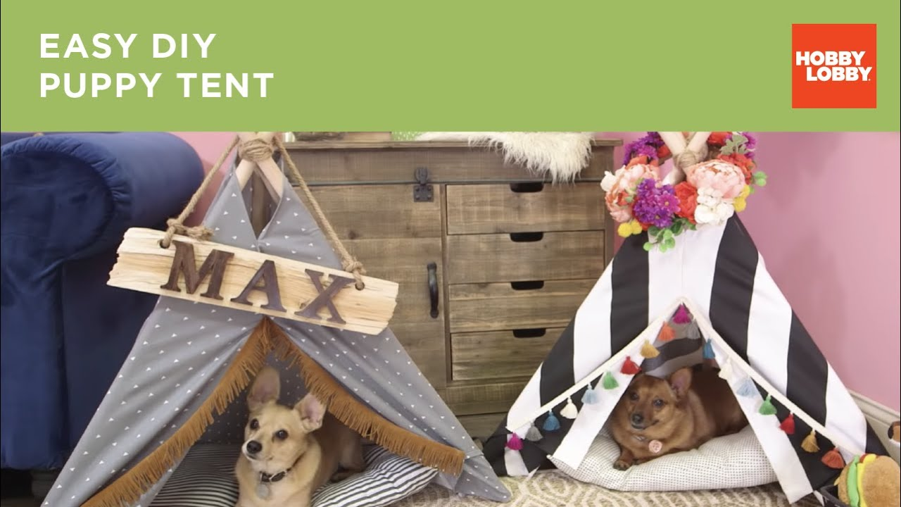 Download Easy DIY Puppy Tent | Hobby Lobby®