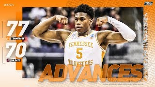 Tennessee vs. Colgate: First round NCAA tournament extended highlights