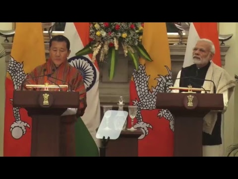 Press Statements: Visit of Prime Minister  of Bhutan to India