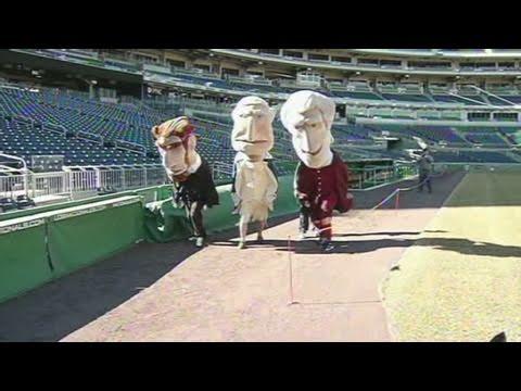 Racing Presidents hit baseball field