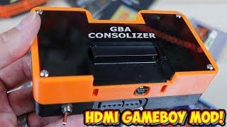 Game Boy Advance HDMI Mod - GBA Consolizer Review! Mini Game Boy Console!