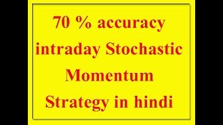 70 % accuracy intraday Stochastic Momentum Strategy in hindi
