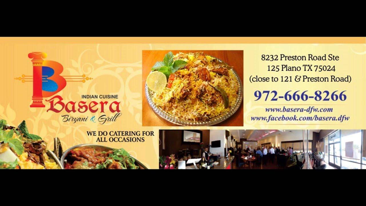 basera indian cuisine plano texas - promo - youtube
