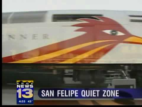 Rail Runner goes quiet through pueblo